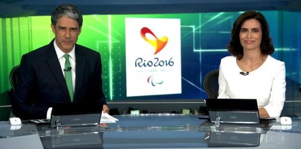 Jornal Nacional mostra visita de atletas paralímpicos nos Estúdios Globo  (Foto: Reprodução/ Rede Globo)