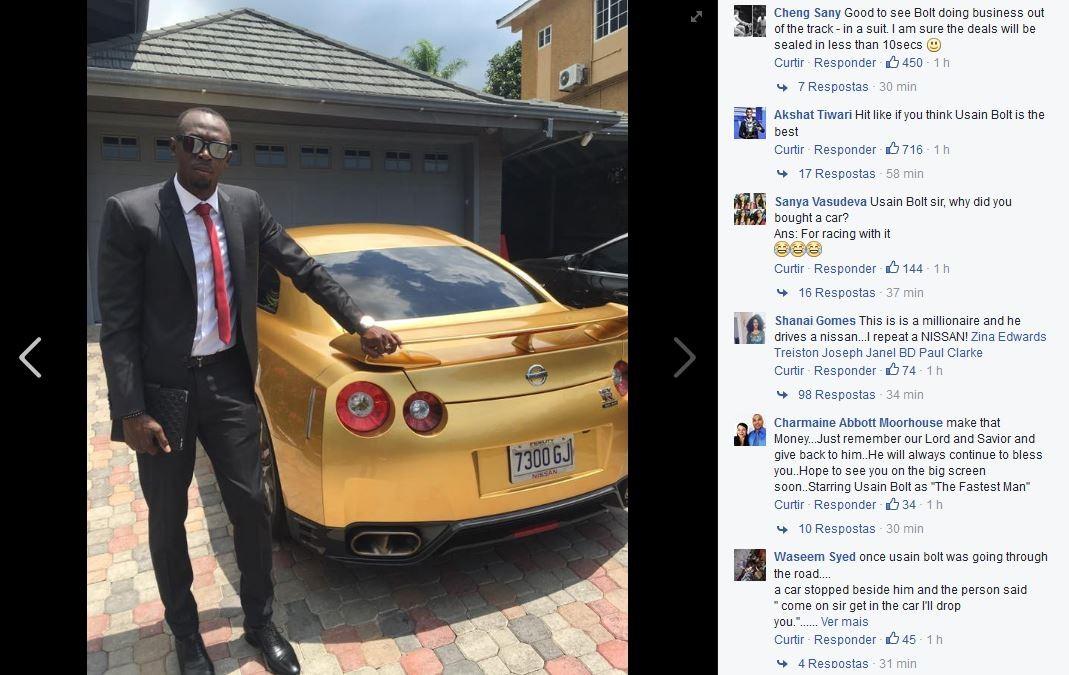 Usain Bolt (Foto: Facebook/Reprodução)