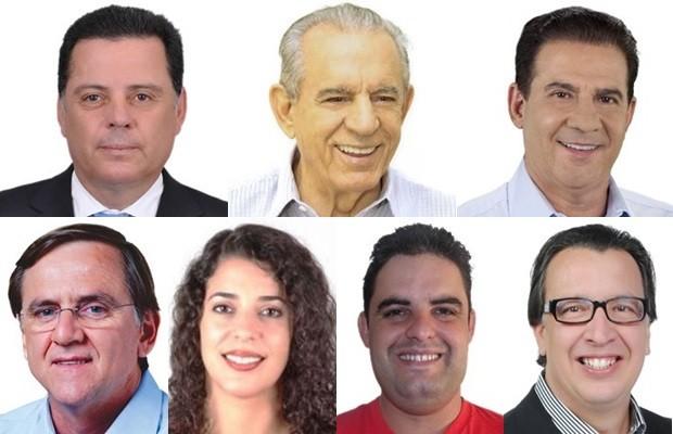 Sete candidatos concorrem ao governo de Goiás (Foto: Reprodução)
