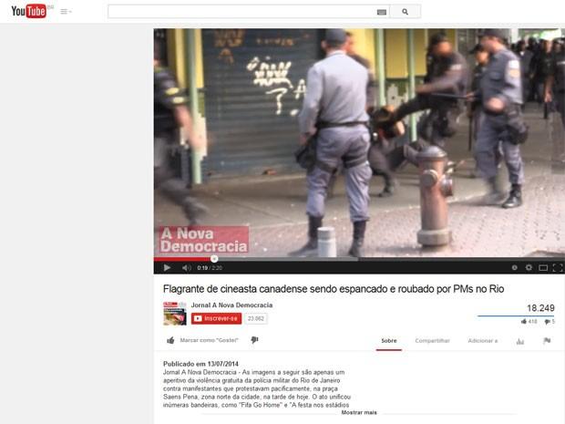 Vídeo mostra agressão sofrida por cinegrafista canadense (Foto: Reprodução Internet)