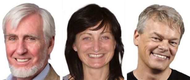 John O'Keefe, May-Britt e Edvar Moser, ganhadores do Nobel de Medicina de 2014 (Foto: Divulgação/Prêmio Nobel)