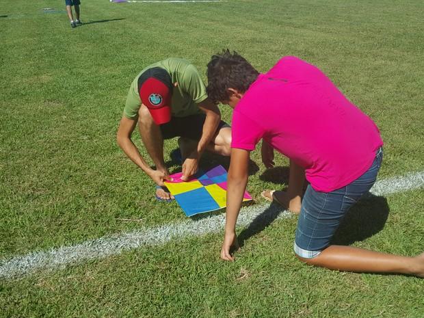 Organização acredita que, durante todo o dia, cerca de 400 pessoas passaram pelo evento em Ji-Paraná (Foto: Pâmela Fernandes/G1)