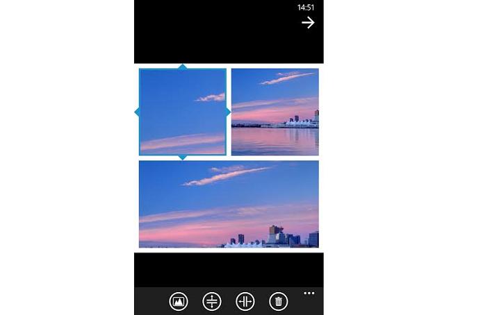Crie colagens de fotos direto no app (Foto: Reprodução/Thiago Barros)