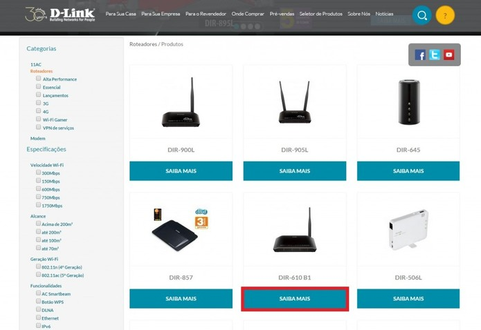 Localize seu roteador no site da D-Link  (Foto: Paulo Vasconcellos/TechTudo)