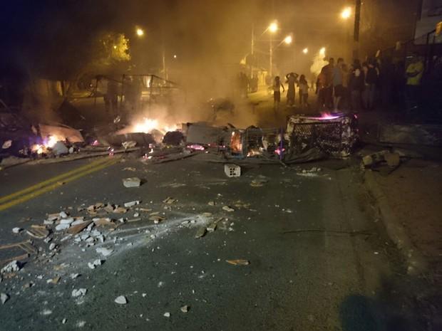 Polícia Militar registrou pelo menos quatro protestos nesta segunda (20) (Foto: Ana Carolina Levorato / G1)