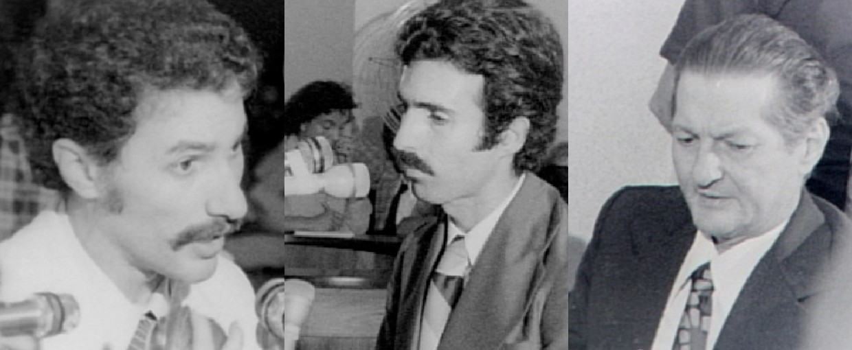 Dantinho (à esquerda), Paulo Helal (centro) e Dante Michelini (à direita) (Foto: Reprodução/ TV Gazeta)