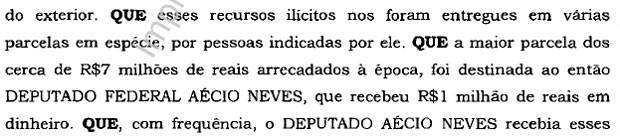 Trecho Aécio Neves delação Sergio Machado Lava Jato (Foto: Reprodução)