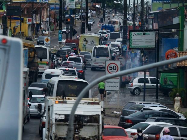 Trânsito Natal (Foto: Canindé Soares/G1)