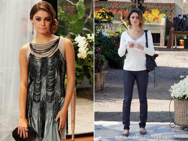 Ao longo da novela a it-girl sofreu uma transformação, nítida em suas roupas (Foto: Sangue Bom/TV Globo)