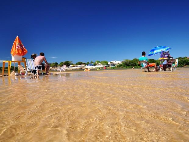 Praia da Gaivota, em Araguacema (Foto: Thiago Sá/ ATN)