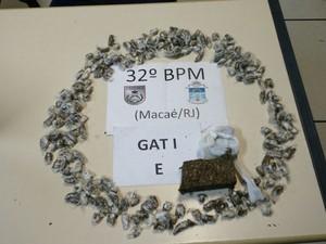 Material foi apreendido em Macaé (Foto: Divulgação/ Polícia Militar)