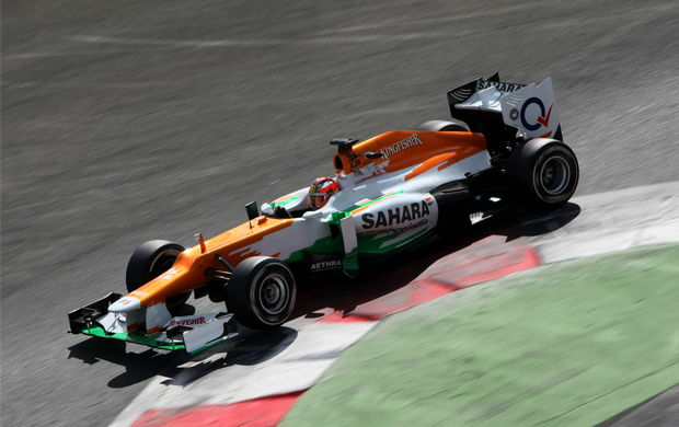 Jules Bianchi, Force India no circuito de Magny-Cours (Foto: Divulgação / Force India)
