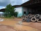 Depósito de pneus  causa preocupação (Rede Amazônica/ Reprodução)