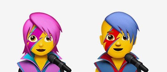 Os novos Emojis de David Bowie do iOS (Foto: Divulgação)