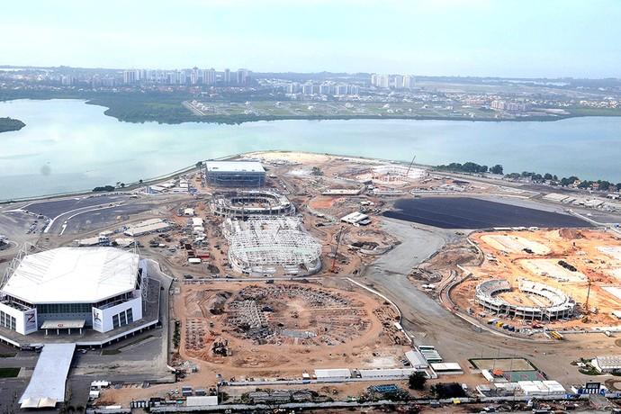 Obras Velodromo parque olimpico (Foto: Andre Durão)