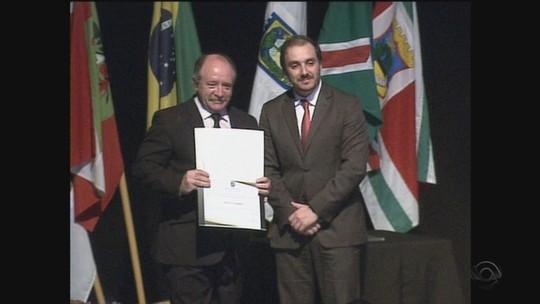 Prefeito eleito de Joaçaba é diplomado pela Justiça Eleitoral