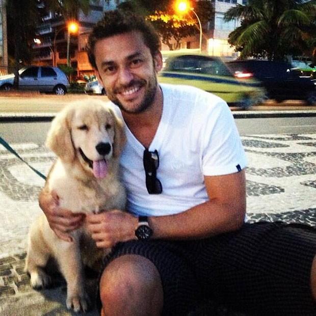 Fred fluminense cachorro  (Foto: Reprodução / Instagram)