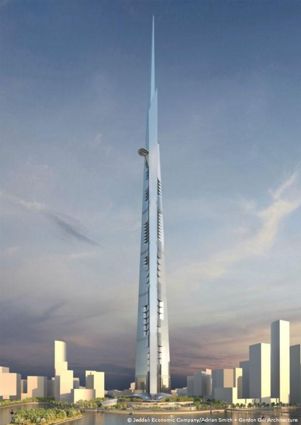 Arranha-céu deverá ficar pronto em 2020 e custar US$ 1,23 bilhão (R$ 4,6 bilhões)  (Foto: Jeddah Economic Company)