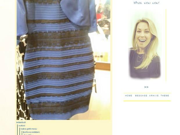 Postagem no Tumblr que iniciou a discussão sobre a cor do vestido (Foto: Reprodução/Tumblr)