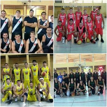 Semifinalistas do Acreano de Basquete adulto masculino 2016 (Foto: Divulgação Feab/Arte: GloboEsporte.com)