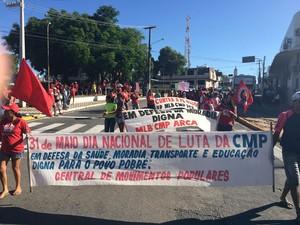 Protesto em Natal (Foto: Felipe Gibson/G1)