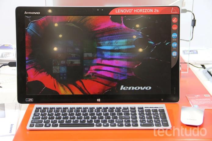 O Herizon é, segundo a Lenovo, o All-in-One mais fino do mundo (Foto: Fabrício Vitorino/TechTudo)