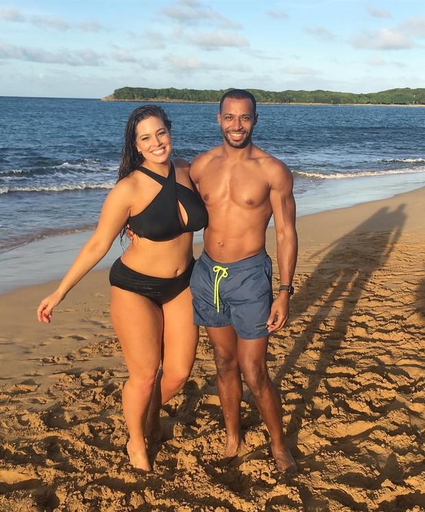 Ashley Graham com o marido (Foto: Instagram / Reprodução)