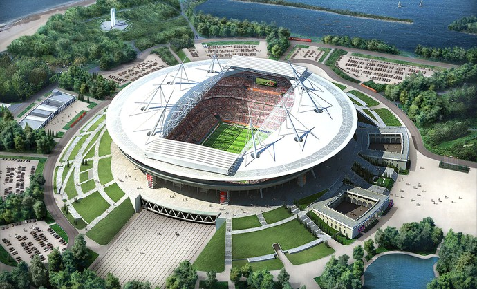 projeto estádio Copa Rússia 2018 St. Petersburgo  (Foto: Getty Images)