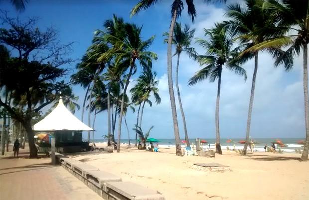 Orla de Recife (PE), próximo a Boa Viagem (Foto: Barbara Bigarelli)