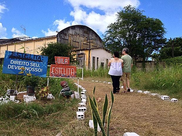 Ocupação Cais José Estelita - Recife - 31 de maio 2014 (Foto: Kety Marinho / TV Globo)