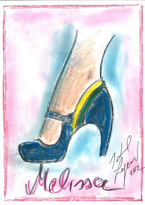 Croquis de Karl Lagerfeld para Melissa (Foto: Melissa/Divulgação)