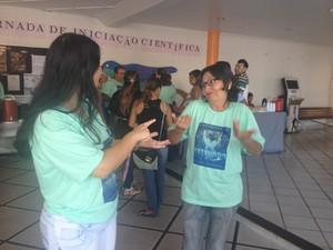 Educação em Linguagem de Sinais é um dos destaques de evento (Foto: Jéssica Alves/G1)