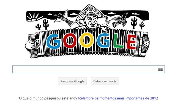 Google presta homenagem a Luiz Gonzaga (Foto: Reprodução)