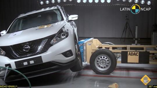 SUV da Nissan feito nos EUA leva só 2 estrelas no Latin NCap