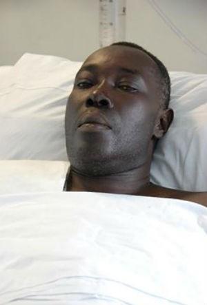 Homem Haitiano está internado mas ainda não foi identificado. (Foto: Arquivo Pessoal)