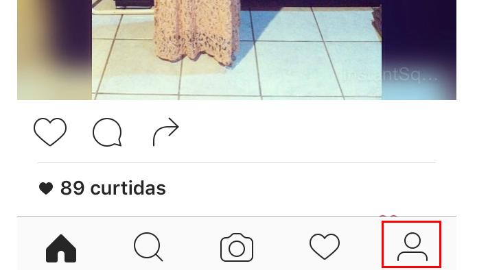 Acessando a guia que mostra o perfil do usuário no Instagram (Foto: Reprodução/Edivaldo Brito)