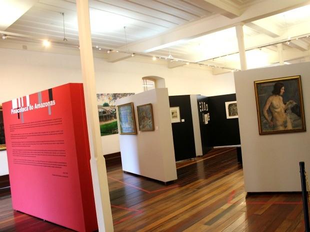 Pinacoteca do Estado do Amazonas, que tem um acervo de mais de mil obras (Foto: Marcos Dantas / G1 AM)