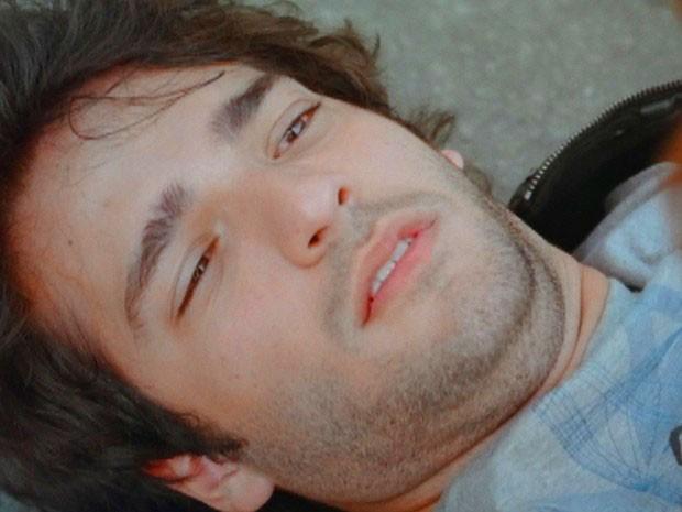 Fabinho sofre acidente (Foto: Sangue Bom / TV Globo)