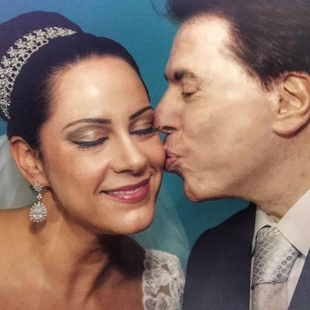 Silvia Abravanel com o pai, Silvio Santos (Foto: Reprodução/Instagram)