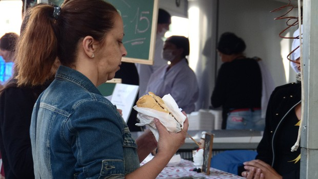 As opções eram para todos os gostos: dos amantes de um bom hambúrguer aos vegetarianos (Foto: Divulgação/RPC)