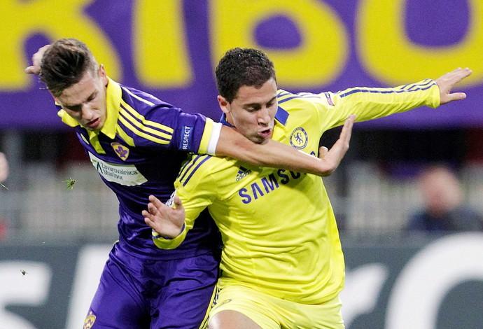 Maribor x Chelsea - Hazard (Foto: Reuters)