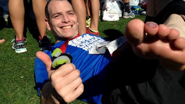 Adriano Abramavicus eu atleta maratona de Chicago (Foto: Camilo Pinheiro Machado)