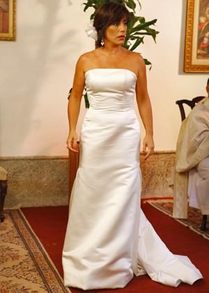 Olha que linda! Pena que a cerimônia não vai acontecer (Foto: Guerra dos Sexos / TV Globo)