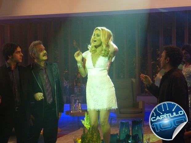 Pamela dá show particular e Jesus e Ernesto ficam ba-ban-do!  (Foto: Geração Brasil/TV Globo)