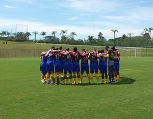 Madureira, primeiro dia de treinos no CT do Desportivo Brasil (Foto: Divulgação/Madureira)