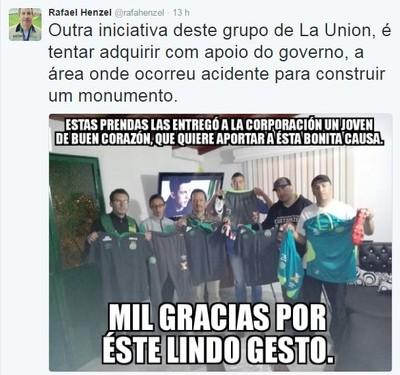 Twitter Rafael Henzel (Foto: Reprodução)