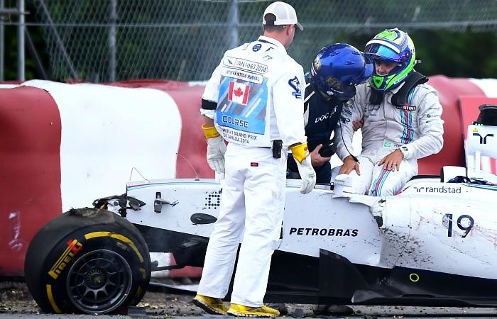 Felipe Massa Sergio Pérez acidente GP do Canadá