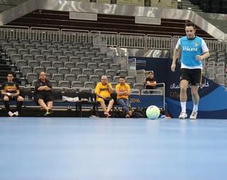Sorocaba treina no Catar para a Copa Intercontinental de futsal (Foto: Guilherme Mansueto / Magnus Futsal)