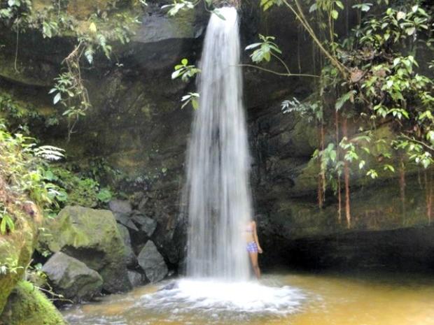 Cachoeira do Ar-Condicionado na Serra do Divisor, na fronteira do Acre com o Peru (Foto: Divulgação/ICMbio)