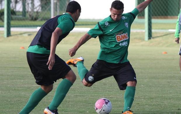 Roberto e Emerson no treino do Coritiba (Foto: Rodrigo Weinhardt / Divulgação Coritiba)